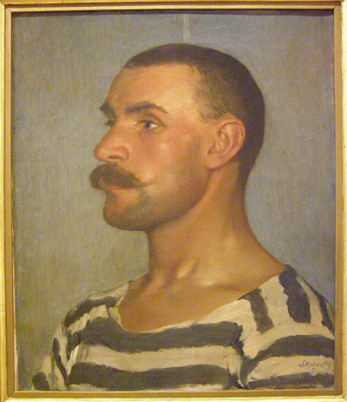 Dominik Skutecký, Study of a Shipyard Worker (Head of Gondolier), 1903 by DeBeer on Flickr.