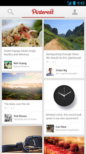 Pinterest has launched for Android… →  Hot off the Press!  Pinterest officially launched an app for Android and iPad, on Tuesday August 14, as well as an updated version of its iPhone app.