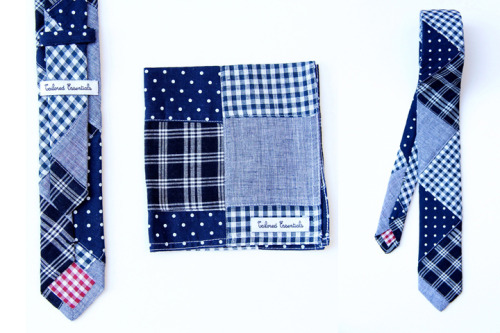 Limited Edition TEM for Tailored Essentials Tie+Pocket Square Set Made in the USA out of a premium Japanese patchwork cotton.  Only 25 available. You can get yours here.