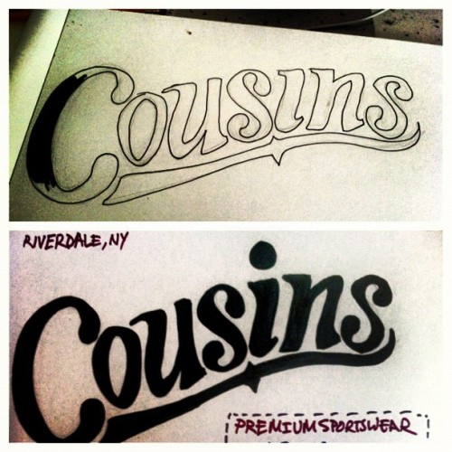 #handdrawn #lettering #logo #revamp #illustration @cousinsbrand #vintage (Taken with Instagram)