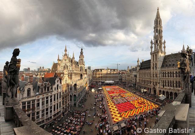 "Carpet flowers 2012, "" Grand Place "" , Brussels, Belgium by Batistini Gaston on Flickr."