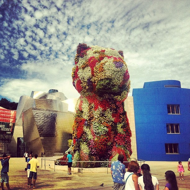 Jeff Koons at the Guggenheim Bilbao (Taken with Instagram)