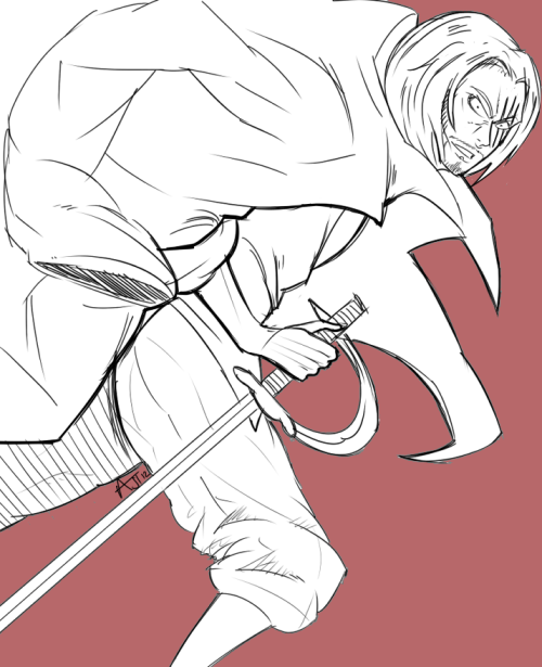 thedreamvirus:  Plain Shanks.I'm getting so boring and rusty…OH GOD!