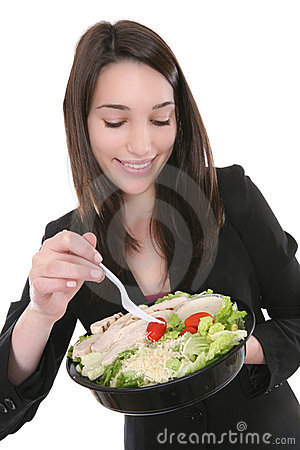 exoticwhitegirls:  Exotic white girl eating a salad with organic free-range chicken from their local farm. This is a traditional meal for the exotic white girl.