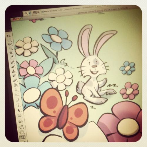 Small preview of some freelance work :3 bunny love!!