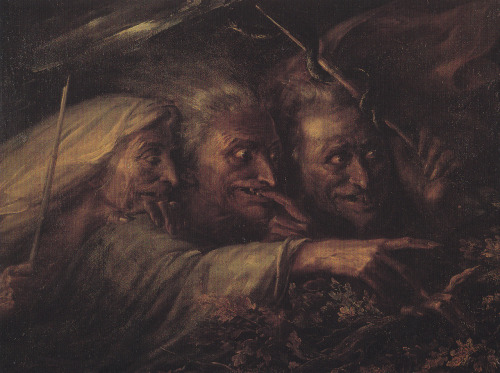 0therworld:  Alexandre-Marie Colin - The Three Witches From Macbeth - 1827