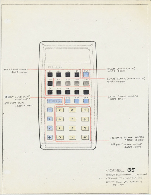 thingsmagazine:  'The Design of Consumer Electronics', Codex 99 on the The HP-35 (via things)
