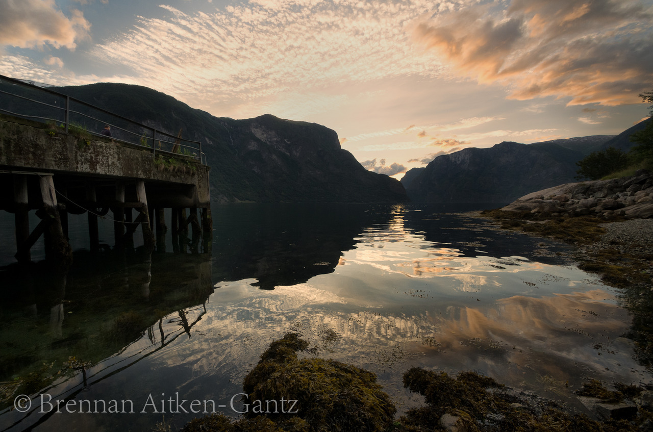 Aurland Sunset over the pier