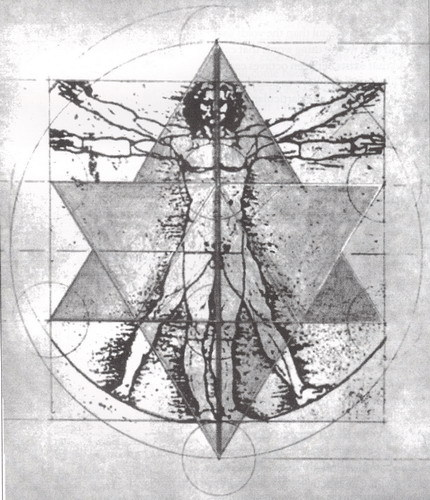 The Vitruvian Man Merkaba