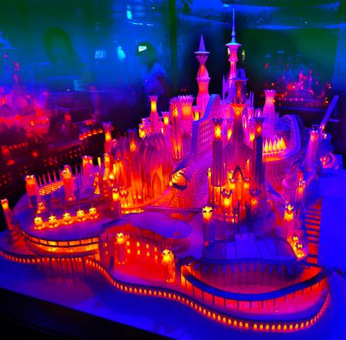 paper castle paper paper sculpture sculpture castle beautiful colorful glowing awesome fairytale fairy tale art