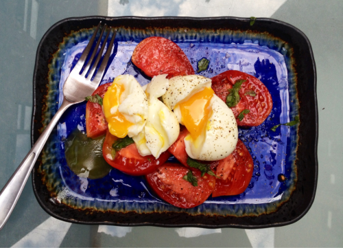 noraleah:  Farm eggs & CSA tomatoes. August.  Want.