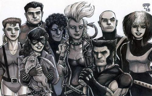 thehappysorceress:  X-Men, circa 1985 by Oliver Pulumbarit