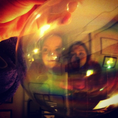 Bubble fun with my sister.