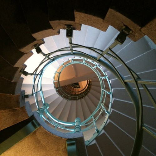 Going inside + up + around. Things I do for my #webseries. #stairs #Berlin #nofilter  (Taken with Instagram at Goldelse)