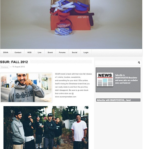 Check out the new #fall looks from #ssur #dope #streetwear  (Taken with Instagram)