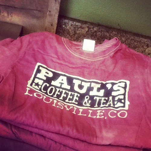 @PaulsCoffee #louisville new t-shirts (Taken with Instagram at Paul's Coffee and Tea)