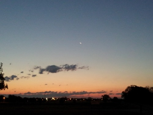 Loving the crescent moon.  8/15/2012 - Tulsa, OK
