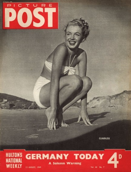 Picture Post, August 1949On the cover: Marilyn Monroe Source: Pulp International