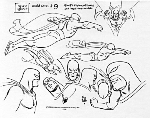 charactermodel:  Space Ghost by Alex Toth