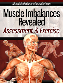 "Assessment and Exercise – Find Issues and Fix Your Workouts Are you a trainer, or fitness fanatic, who likes to develop your own programs?  Then you need to take a look at the latest product from Rick Kaselj, called Muscle Imbalances – Assessment and Exercises.  He pulls together an awesome team to dig into properly assessing movement to find issues then fix your workouts with proper exercises. Rick Kaselj – He's Been Here Before For those of you that have been around for a while, or scoured the site, may recognize Rick's name.  That's because he's been here before.  Rick is a trainer from Canada, eh, who has developed a specialization in addressing injuries and muscular imbalances.  We did an interview where Rick talked about the need to Move it Or Lose it – keep moving. While I still am refusing to believe that I'm in my forties and at some point need to say I'm old.  I will admit that I'm much more aware of how my body moves; or doesn't move.   Those aches and pains can often be addressed by digging deeper into the biomechanics of how we move. That same mind-set is why we launched Kettlebell Form Check – get your form right and avoid issues later on. Rick knows this first hand from his experience helping people address injuries and work towards regaining mobility.   Enter the 3rd edition of his Muscle Imbalances program. Muscle Imbalances Revealed – 3rd Edition Assessment & Exercise is the focus of the 3rd Edition of Muscle Imbalances Revealed and it aims at helping you ""Discover How to Pinpoint Problems & Fix Them with Exercises"". As a fitness & health professional or exercise enthusiast we often just focus on strength, flexibility and cardiovascular techniques with our clients to help them reach their fitness goals. By just focusing on these three exercise techniques you hamper your client's performance results, ability to bust through fitness plateaus, overcome injuries and remain injury-free. To get past this, what you need in your toolbox is a full understanding of muscle imbalances. Muscle Imbalances Revealed goes beyond stretching what is tight, strengthening what is weak or just performing corrective exercises. It assists the fitness & health professional or exercise enthusiast in understanding the synergies that exist within the body and walks you through the intricacies of muscle imbalances. In the Assessment & Exercise Edition of Muscle Imbalances Revealed you will be guided by 4 experts from various health professions on how to perform a number of assessments that will allow you to pin-point problems and then give you the exercises to fix those problems in order to improve performance, athleticism, fitness results, injury prevention and injury recovery. Who Are These Fitness Experts? So the team brings incredible depth to this product.  Here are some short bios for each of the four members helping you to find issues and fix your workouts. Rick Kaselj from Exercises For Injuries  Rick specializes in active rehabilitation and fitness. He has worked in one-to-one active rehabilitation and group rehabilitation with people who have been injured at work, in motor vehicle accidents and during sport.  Rick has personally trained a wide variety of individuals and lead group fitness classes for healthy and special populations. Rick has put together several different products to help people recover and/or prevent injuries.  His other products include: Knee Injury Solution Rotator Cuff Solution Upper Body Muscle Imbalance Lower Body Muscle Imbalance Fix Elbow Pain  Nick Rosencutter from Rosencutter Ultra Fitness  Nick Rosencutter is a Certified Strength and Conditioning Specialist and Certified Personal Trainer  through the National Strength and Conditioning Association, the two most respected credentials in the fitness and strength and conditioning field.  He is also a Nationally Certified and Licensed Massage Therapist and Certified Active Release Techniques (ART) provider. Anthony Mychal from AnthonyMychal.com  Anthony Mychal exists at the crossroad between fitness and athleticism. As a professional, he's a writer appearing on the likes of T-Nation, LIVESTRONG.com, STACK, and Greatist. As a dude, he's a self-proclaimed performance junkie that practices martial arts tricking. He splatters his ideas about building a body that matters on a weekly basis at his blog. John Izzo from Trainer Advice  John Izzo is an accomplished fitness professional with over a decade of experience working with people to achieve things they never thought possible. He is a commensurate professional and  coach, that supports others achieve great levels of fat loss, sports performance, and optimal health. He is a listener and an opportunist that believes in working hard by meeting challenges with passion and tenacity. Assessment and Exercise – Sample Video Clips Here is a short clip highlighting how to assess issues with the knee. Listen to Anthony Mychal go old-school and expound on Vitruvian Man from Leonardo da Vinci. Assessment and Exercise  Don't keep building imbalances, instead take the time to learn from the team that Rick pulled together.  Learn how to assess your movement, find issues, then fix your workouts with exercises. Pick up Muscle Imbalances – Assessment and Exercises.Related Posts:  Drop the INSANITY!  This Workout Is Better.   Are You Ready For A Change?  Take On A Fitness Challenge!   Super Hero Trick to Get Results 
