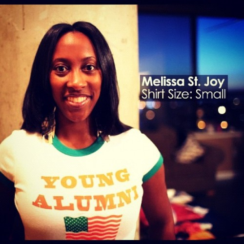 Former Miss FAMU Melissa St. Joy seen here wearing me & @joeydgl new Baby Tees for the FAMU #youngalumni :: order yours at www.iamfly.bigcartel.com (Taken with Instagram)