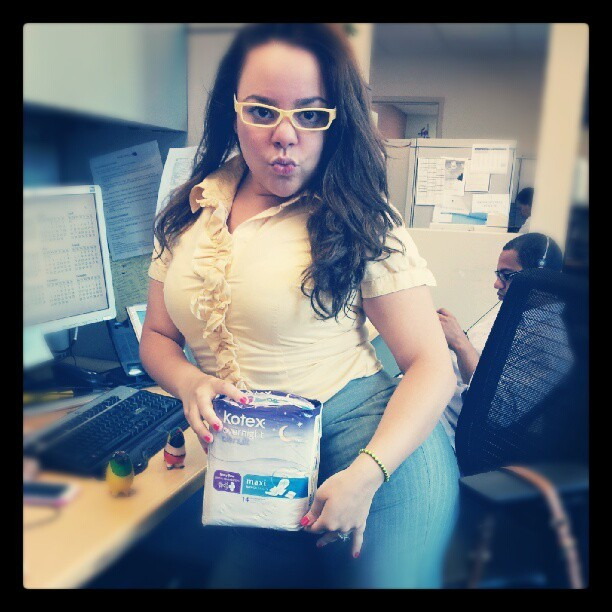 Crying with #laughter over office shenanigans with @dulcemercedes10! #kotex #funny #work (Taken with Instagram)