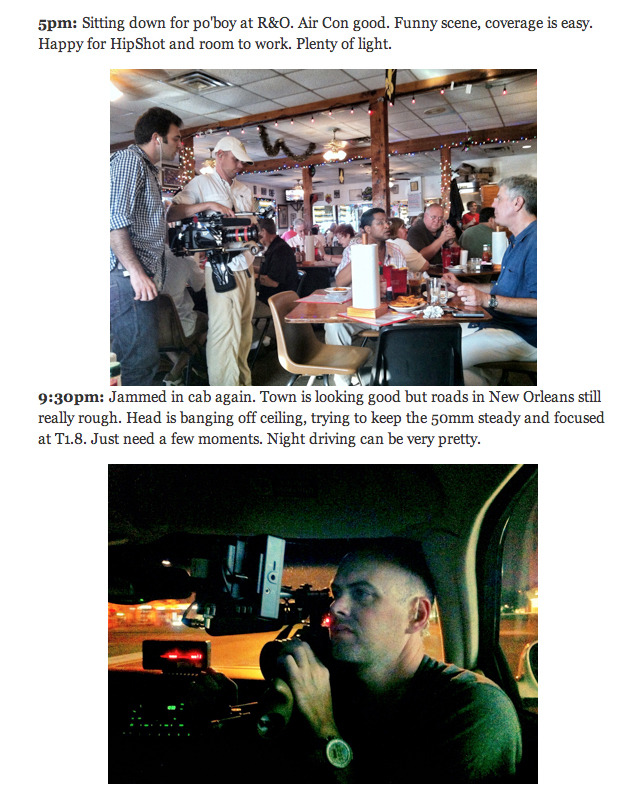Behind the scenes with our DP Zach »  Huffington Post Food: A Week In The Life of Zach Zamboni, Anthony Bourdain's Cinematographer
