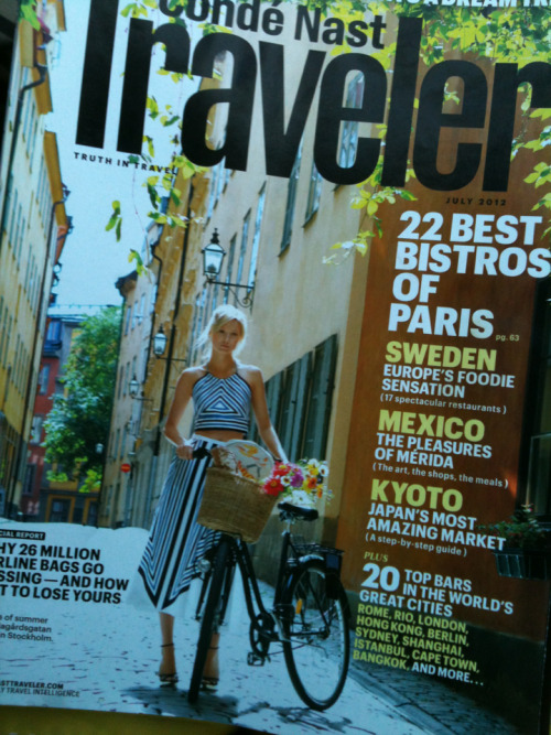 Even the travel magazines know the best transit is by bike.