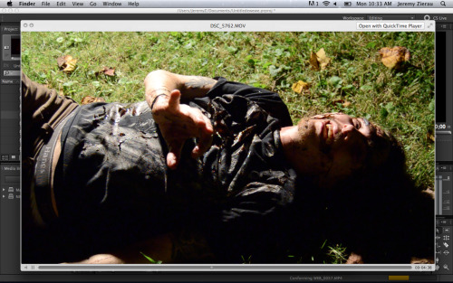 DREADBOX Production Still, 2012Danny Eisenbraun stabbing outtake