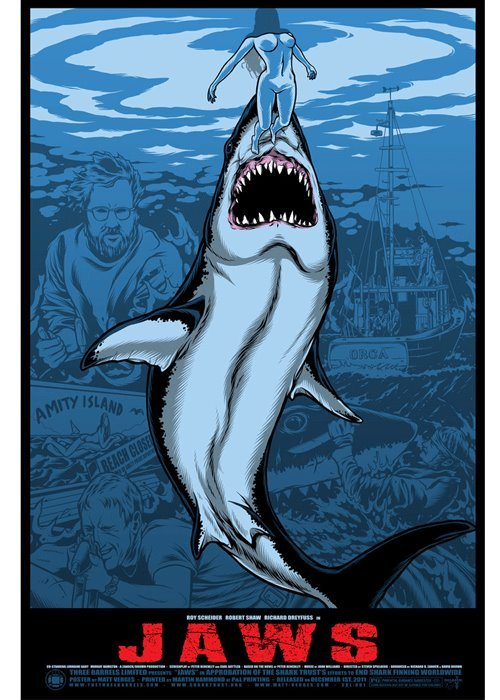 Jaws alternative movie poster designed by Matt Verges