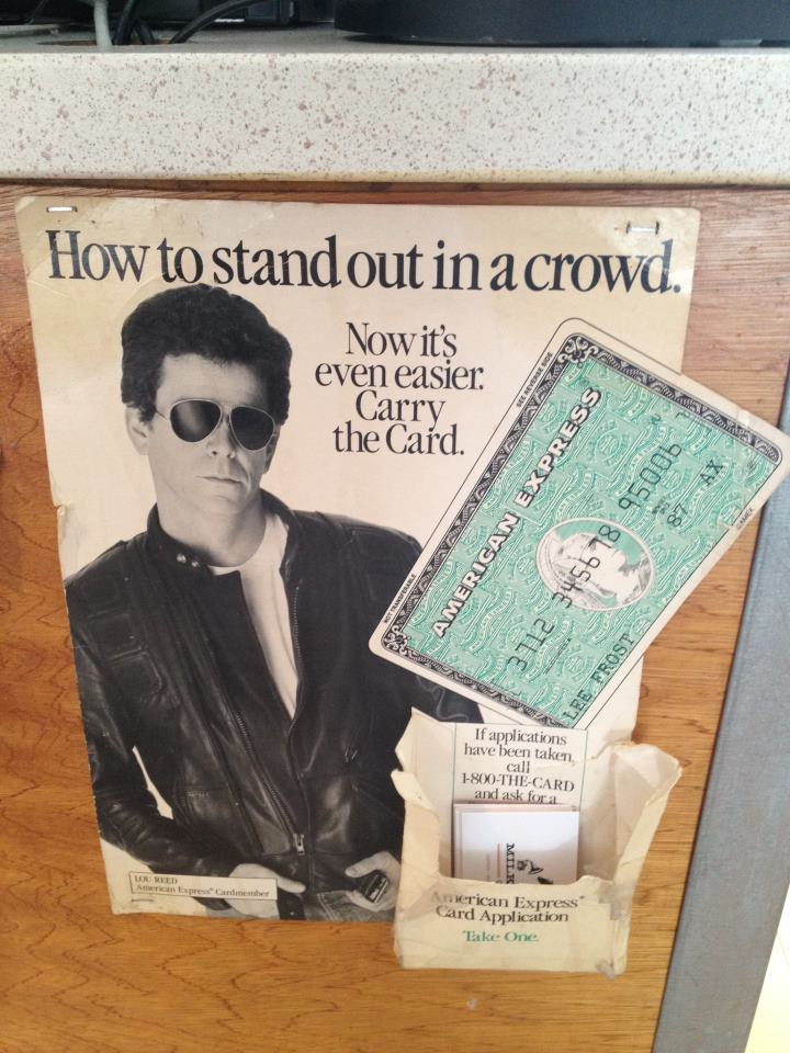 How to really stand out in a crowd, according to Lou Reed: (1) be famous and (2) date a transvestite for years.
