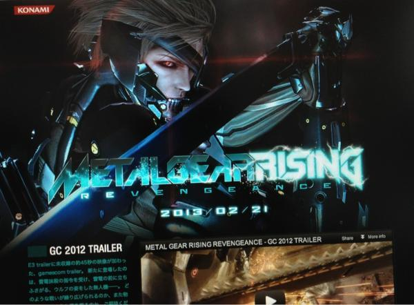 'Metal Gear Rising: Revengeance' Looks Like The Futuristic 'Desperado' Of Video Games Hideo Kojima tweeted the above pic showing the official MGR:R web site which features a shiny new trailer along with an official release date of 2/21/23… in Japan. Womp womp. Even though we still don't have a U.S. release date, this is shaping up to look pretty redonkulous. Slicing dudes through walls, fighting against (and alongside) chainsaw-tailed panther robots, running atop a barrage of missiles toward a helicopter and proceeding to slice it into smithereens. I can't NOT think of Robert Rodiguez-style action while watching this thing. Check it out for yourself to see what I mean.  Yeah, I'm sold. What about you guys? You digging the new direction of the Metal Gear series, or does this just leave you pining for the stealth action days of yore? Also check out: That one time we met Hideo Kojima
