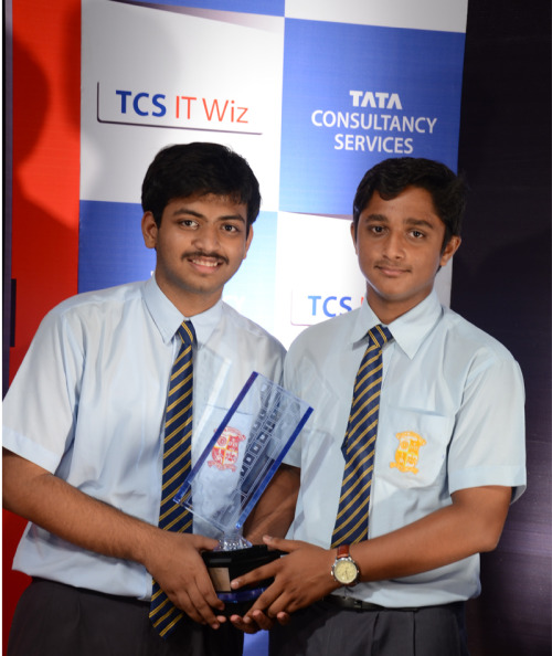 Shubham and I at the Kolkata edition of TCS IT Wiz '12 - first place :)