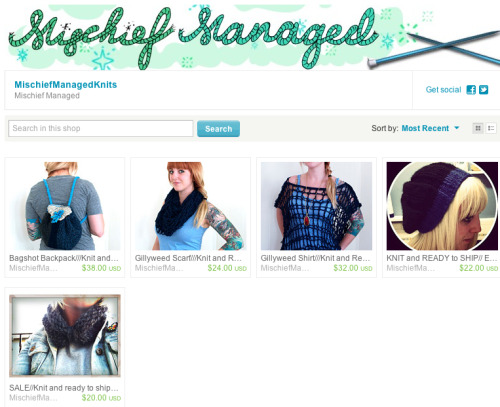"I now have a ""knit and ready to ship"" section in my shop! No wait for these items! Theyre ready to go!"