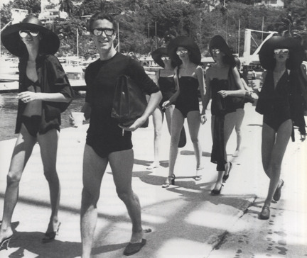 Halston and his ladies via Garmento