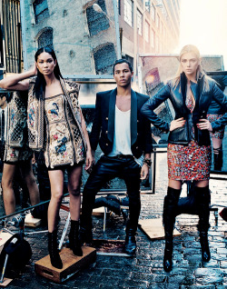 hellyeahchaneliman:  Chanel Iman, Olivier Rousteing of Balmain, and Kate Upton for Vogue September 2012