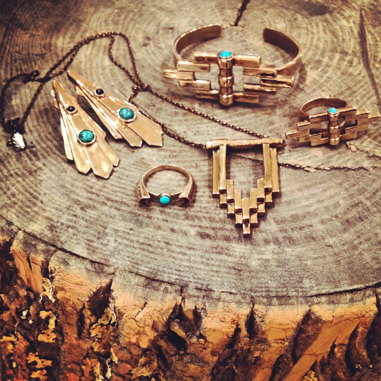 pamelalovenyc:  Some of our favorite Bronze and Turquoise pieces from the AW12 collection.
