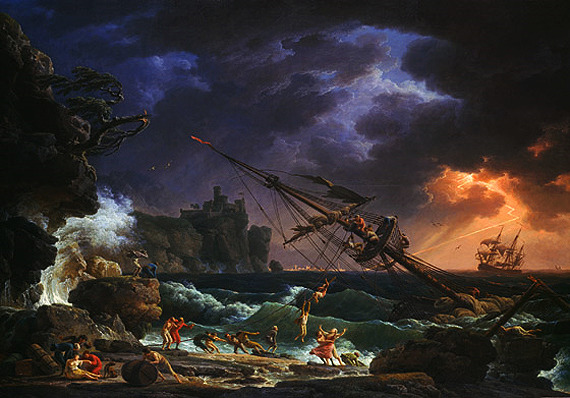 Claude Joseph Vernet - The Shipwreck (1772)