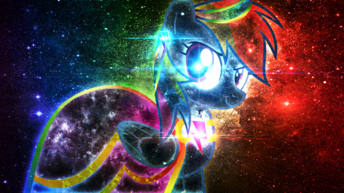 theponyartcollection:  Rainbow Dash Summer Dress Galactic Wallpaper by ~Tzolkine