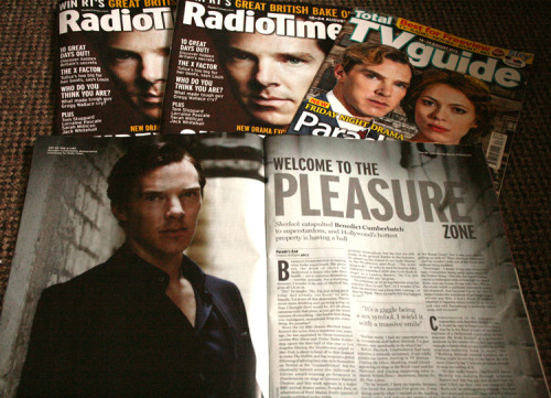 mystradedoodles:  Mini RadioTimes Giveaway For all my followers and benedict fans who don't live in the UK <3 1st Winner will recieve both a copy of the Radio Times and the Tv Guide with Parade's End special.  Winners 2 &3 will receive a copy of the Radio Times. * *I've taken out some of the telly listings to save on shipping, you won't need them anyway! Rules: You must be following me. Open to everyone except Brits (If you live here you can just go buy one..) Likes do count <3 Max 3 reblogs This is a quick 2 day giveaway, winners will be chosen by random number on Friday. Good luck!