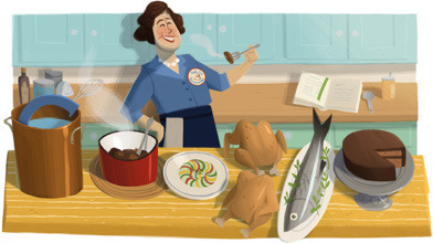 Julia Child's 100th birthday. (via Google)