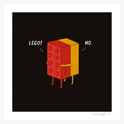 "whereisthecoool:  ""I Will Never Lego"" Print"