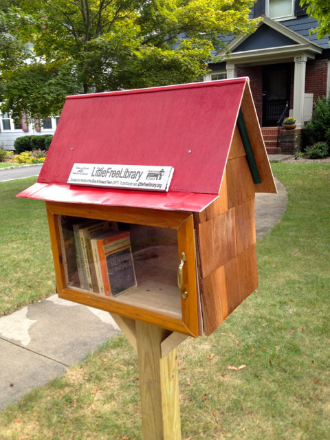 Our Little Free Library is open for business.  Just a smattering of books so far, but soon we will be adding content and additional decorations to the library from my artistic daughter. Feel free to stop by 57 Tuxedo Rd in Montclair to lend or borrow a book.  Wondering what this is all about?  Go here: http://www.littlefreelibrary.org/