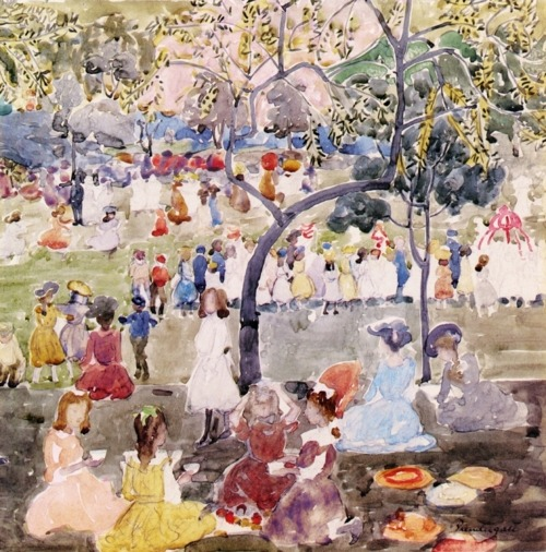 In the Park by Maurice Prendergast, n.d