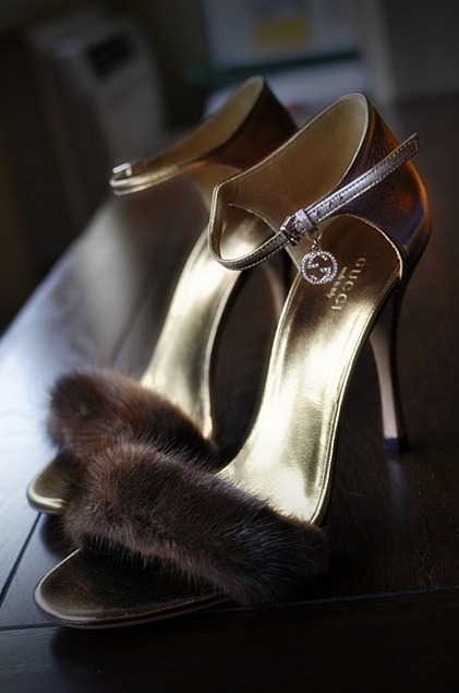 mink heels by GUCCI