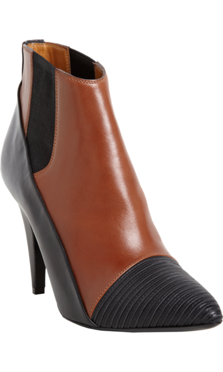 Obsession du Jour - Balenciaga Ribbed Cap-Toe Ankle Boot with 3.75 inch heel. $1085 at Barneys New York.