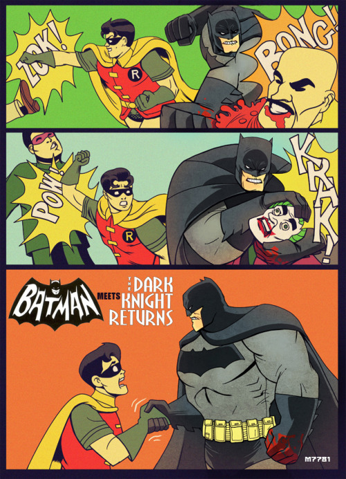 bettyfelon:  60's Batman TV show x Dark Knight Returns, by m7781.