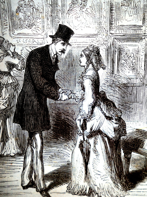treselegant:  'Sir Charles renews his acquaintance with Rosamund.' Bow Bells, 1872.   Definitely not a Pettifogger.