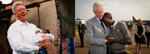 Bill Clinton Photo of the Day: President Clinton reunites with 14-year-old Bill Clinton, who was named after the president during his visit to Uganda. Say what you want about the guy, Bill Clinton is a great dude. via