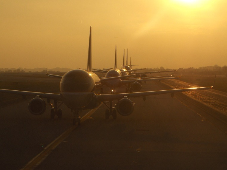 Even planes have to line up single file. Photo by Megan, Matador member.